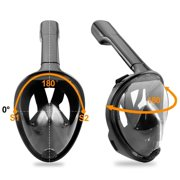 Full Face Snorkel Mask, EpicGadget 180° GoPro Compatible Snorkel Mask with anti-leak