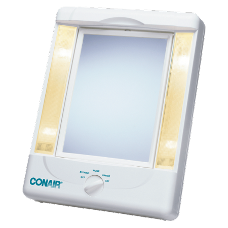 - Two-Sided Lighted Makeup Mirror with 4 light settings