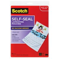Scotch Self-Seal Laminating Pouches, Letter Size, 10 Sheets per Pack
