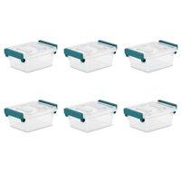 Sterilite, 1.2 Qt./1.1 L Modular Latch Box, Case of 6