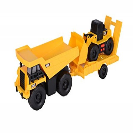 Toy State Light and Sound CAT Truck N' Trailer Dump Pulling Wheel Loader Vehicle ()
