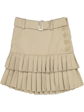 Girls' School Uniform Pleated Double Tier Scooter