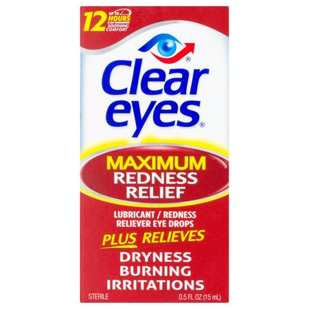 4 Eye Relief (Clear Eyes Maximum Redness Relief Eye Drops, 0.5 FL)