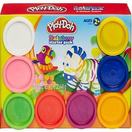 Play-Doh Rainbow Starter Pack with 8 Cans of Dough, 16 oz - Rainbow Sand