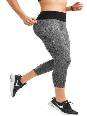Dunlop Women's Active Roped Lattice Ankle Performance Leggings