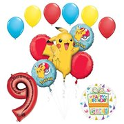 Pokemon 9th Birthday Party Supplies and Balloon Bouquet Decorations 22ea665bb