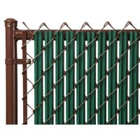 Green 4ft Ridged Slat for Chain Link Fence