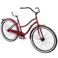 """Huffy 26"""" Cranbrook Women's City Cruiser Bike, Dark Red"""