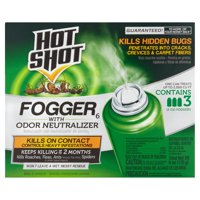 Hot Shot Fogger 6 with Odor Neutralizer, 3-Count, 2-Ounce