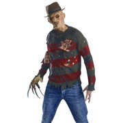 9afcf644bd7 Adult Freddy Krueger Sweater With Burned Flesh Costume by Rubies 881566