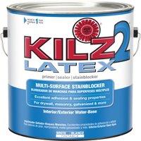 KILZ 2 Interior/Exterior Multi-Surface Primer, Sealer & Stainblocker, White, Water-Based