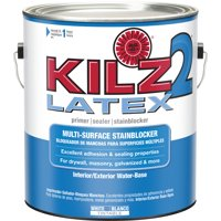 KILZ 2 Interior/Exterior Multi-Surface Primer, Sealer & Stainblocker, White, Water-Based
