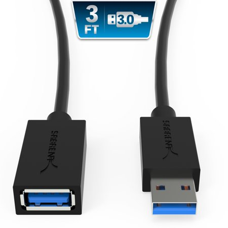 - Sabrent USB 3.0 Extension Cable - A-Male to A-Female [Black] 3 Feet (CB-3030)
