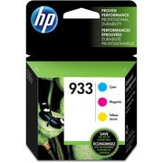 HP 933 Cyan, Magenta & Yellow Original Ink Cartridges, 3 pack (N9H56FN)