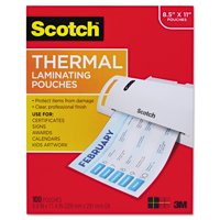 Scotch Thermal Laminating Pouches 100 Count, Letter Size Sheets