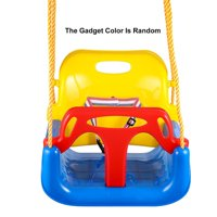 Outdoor 3 In 1 High Back Toddler Baby Swing Set Children Full Bucket Seat Swing For Outside Playground Park CYBST