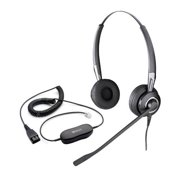 50059a2b074 Jabra BIZ 2425 Duo NC Corded Headset & GN1200 Cable w/ Break Proof Boom Mic