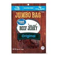 Great Value Gluten-Free Original Beef Jerky Jumbo, 5.85 Oz.