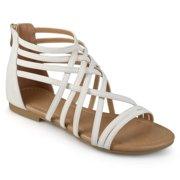 b65709ddb69 Womens Wide Width Strappy Gladiator Flat Sandals