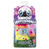 Hatchimals CollEGGtibles, Glittering Garden Hatchy Home Light up Nest with Exclusive Season 4 Hatchimals CollEGGtibles, for Ages 5 and Up