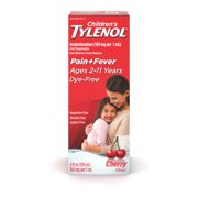 Children's Tylenol Oral Suspension, Fever Reducer and Pain Reliever, Dye-Free Cherry, 4 fl oz