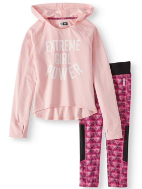 RBX Performance Graphic Waffle Hoodie & Legging, 2-Piece Set (Little and Big Girls)