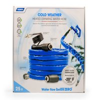 """Camco TastePURE 25' Heated Drinking Water Hose, Freeze Protection Down to -20F/-28C, 1/2"""" Inner Diameter, Lead and BPA Free, Reinforced for Maximum Kink Resistance (22911)"""