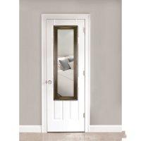 """Mainstays Over-the-Door Mirror, 17"""" x 53"""", Bronze with Gold"""