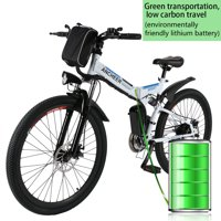 """Clearance!ANCHEER Upgrade 26""""27 Speed Folding Electric Mountain Bike with Super Lightweight Magnesium Alloy 6 Spokes Integrated Wheel,Large Capacity Lithium-Ion Battery(36V 250W),and Shimano Gear"""
