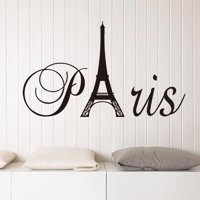 Removable France Paris Eiffel Tower Wall Sticker PVC Vinyl Decal Mural Home Decor