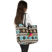 fa496a820 Women Large Tote Shoulder Bag Purse Handbag Quilted Woven Jacquard Shopping  Market Beach Hippie Bag