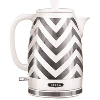 BELLA 1.8 L Electric Ceramic Kettle, Silver Chevron #14537