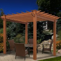 New England Arbors Lakewood 7.25 ft. Vinyl Pergola