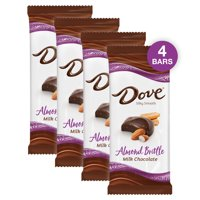 (4 pack) Dove Bar Milk Chocolate Almond Brittle Candy Bar, 3.30 Oz