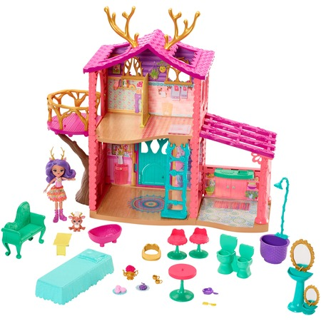 Enchantimals Cozy Deer House Playset + Danessa Deer Doll & Sprint Figure