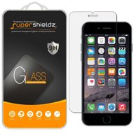 [2-Pack] Supershieldz Apple iPhone 6 / 6S Tempered Glass Screen Protector, Anti-Scratch, Anti-Fingerprint, Bubble Free