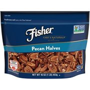 Fisher Pecan Halves, No Preservatives, Non-GMO, Heart Healthy, 16 oz