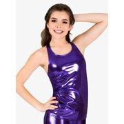a0d5d11022f Womens Long Metallic Halter Dance Tank Top