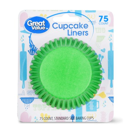 Great Value Cupcake Liners, Assorted Colors, 75 Count - Colored Cupcake Liners