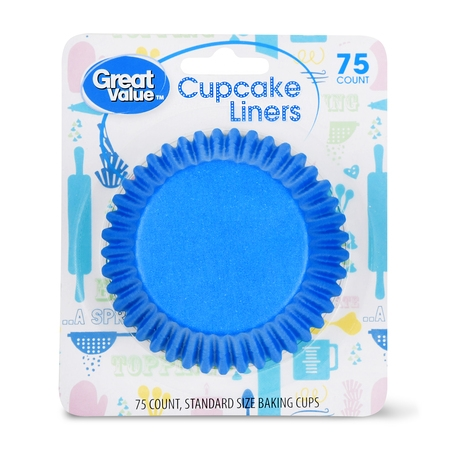 Great Value Cupcake Liners, Assorted Colors, 75 Count](Aqua Cupcake Liners)