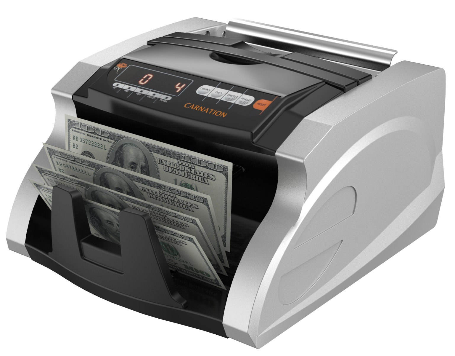 Carnation CR180 Bill Cash Money Counter Machine With UV And MG Detection