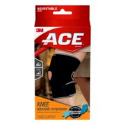 ACE Brand Knee Support, Adjustable, Black/Gray, 1/Pack