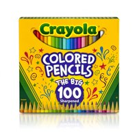 Crayola Colored Pencils, Bulk Colored Pencils, Great for Coloring Books, 100 Count