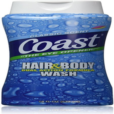 Coast Hair & Body Wash, Classic Scent 18 oz (Pack of 4)