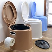 Meigar Portable Toilet Potty Commode Flush for the Elderly Travel Camping Hiking Outdoor Indoor,Assists Disabled, Elderly or Handicapped,Large