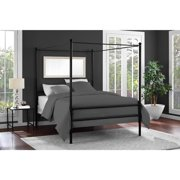 Mainstays Metal Canopy Bed Multiple Colors Sizes