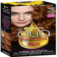 Garnier Olia Ammonia Free Hair Color [6.43] Light Natural Auburn 1 ea (Pack of 3)
