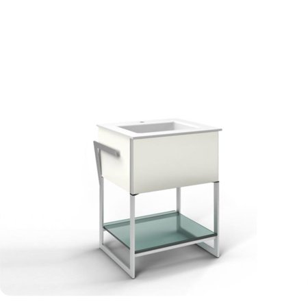 "Robern VF24PDC Adorn Customizable 24"" Modern Bathroom Vanity w/ Style & Color: Tinted Gray Mirror  & Night Light: Base Unit w/ Night Light & Drawer Mechanism: Slow Close w/ H&le"