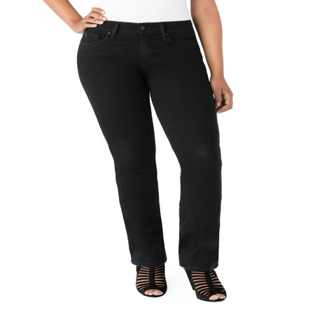 - Signature by Levi Strauss & Co. Women's Curvy Straight Jeans