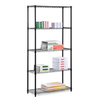 Honey Can Do 5-Shelf Steel Storage Shelving Unit, Multicolor
